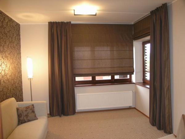 Фото красивых штор для угловых окон для гостиной