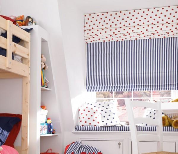 Фото римских штор в детской