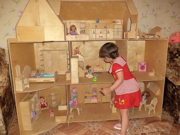 Мебель для кукольных домиков из картона своими руками фото 780