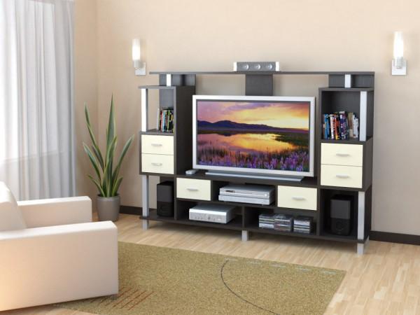 Компактная стенка под телевизор для гостиной