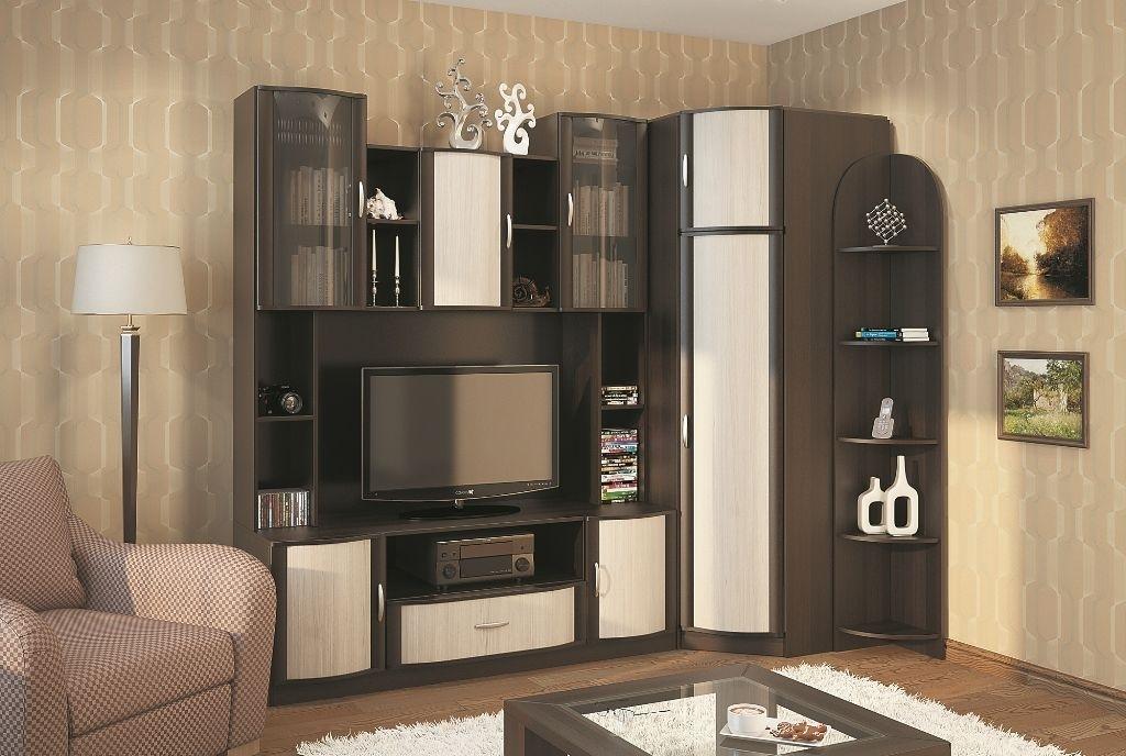 Модульная мебель для гостиной с угловым шкафом - прекрасный выход для экономии пространства