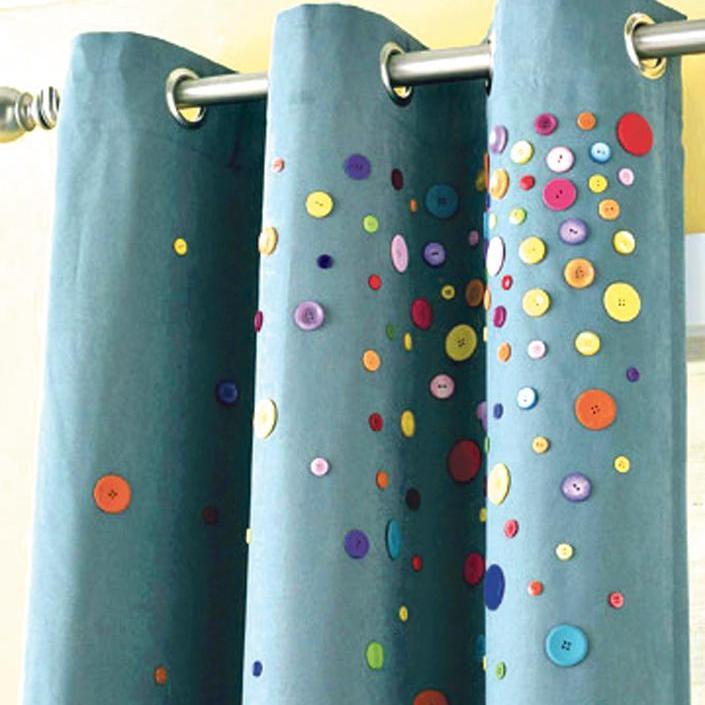 Как украсить рулонные шторы своими руками
