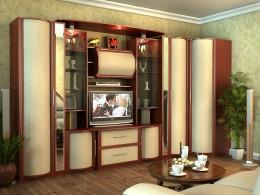 Стенка для гостиной со шкафом для одежды — современные дизайнерские тенденции