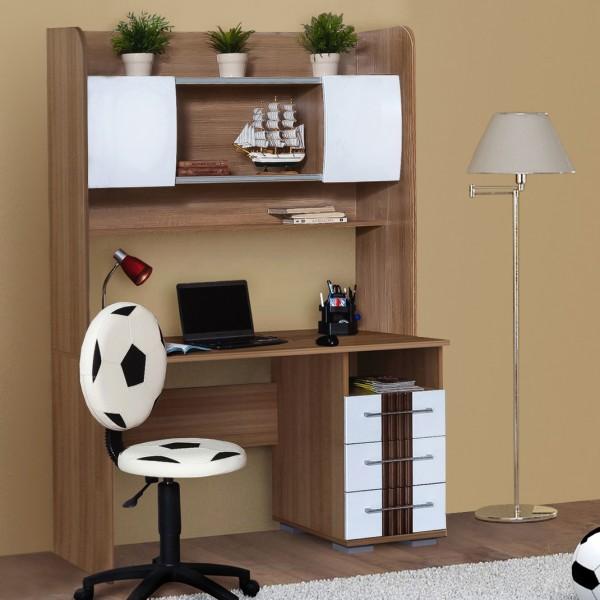 Стол для детской комнаты с надстройкой