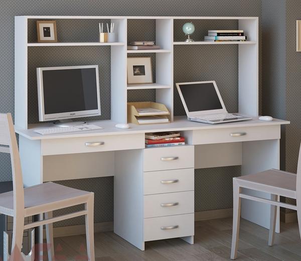 фото письменного стола для двоих детей рабочего школьного