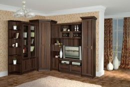 Угловая стенка для гостиной — обширный модельный ряд мебели для любого интерьера