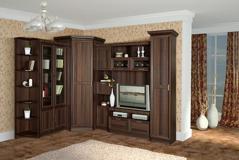 Угловая стенка для гостиной - обширный модельный ряд мебели для любого интерьера