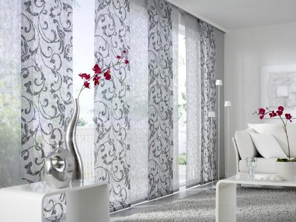 Японский стиль штор для гостиной