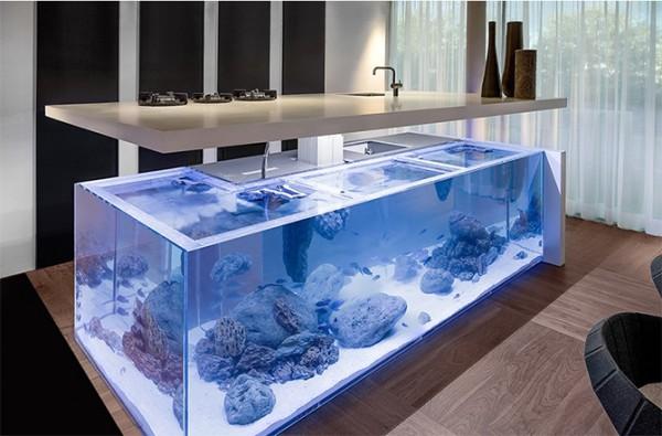 аквариумный островок на кухне
