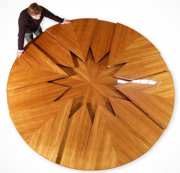 Стол который может менять свой диаметр