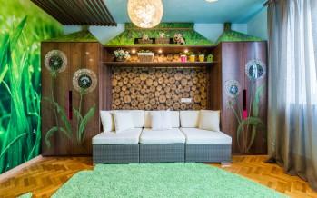 детский раскладной диван в интерьере