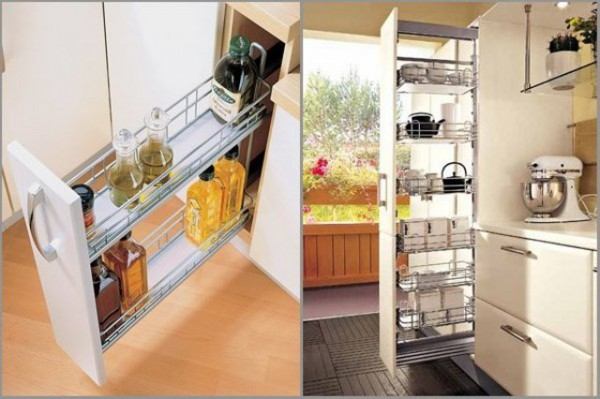 Пенал-вертикаль на кухне