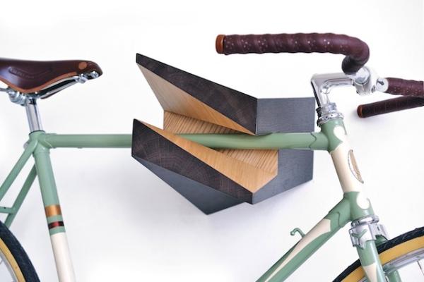 Интересное дизайнерское решение для держателя велосипеда