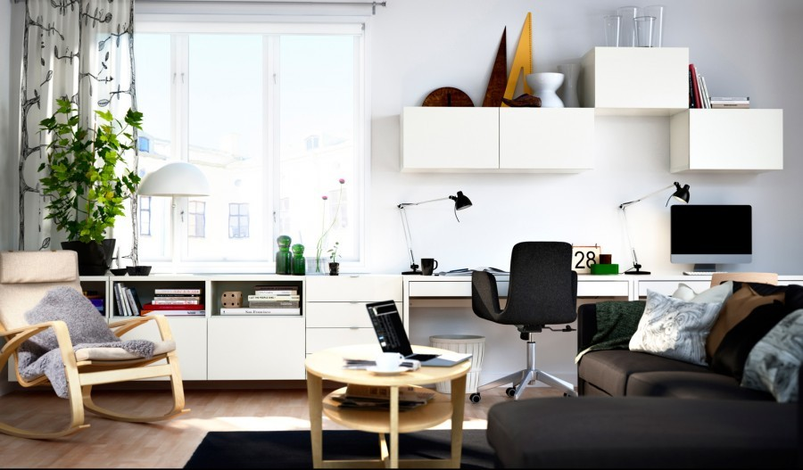 Модульная мебель для гостиной ИКЕА - практичность плюс разнообразие