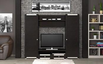 мини стенки для гостиной и современные фото моделей