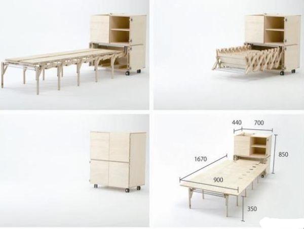 Стол, который позволяет экономить место
