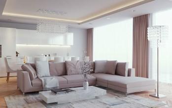 недорогие шторы для гостиной в современных стилях