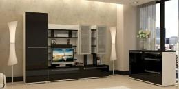 Современные модульные стенки в гостиную: модные направления формы, цвета и дизайна