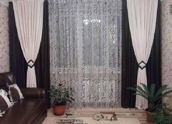шторы в зал своими руками сделанные