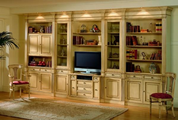 стенки для гостиной в классическом стиле