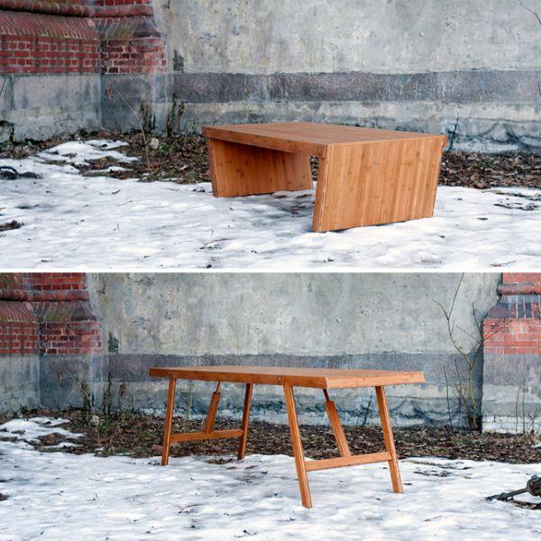 Кофейный столик который при необходимости трансформируется в обеденный стол