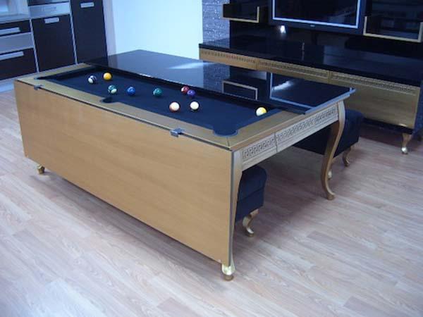 Обеденный и бильярдный стол в одном предмете