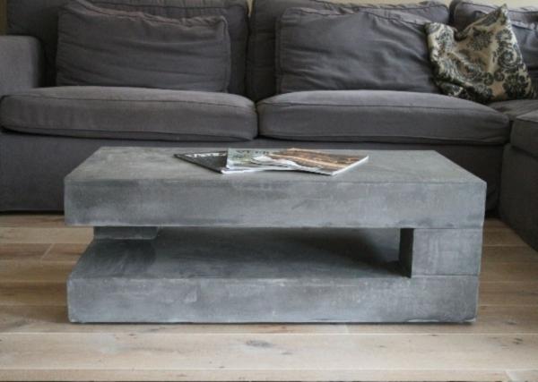 Кофейный столик из бетона своими руками