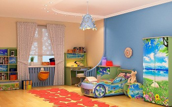 светильник в детской комнате на потолке