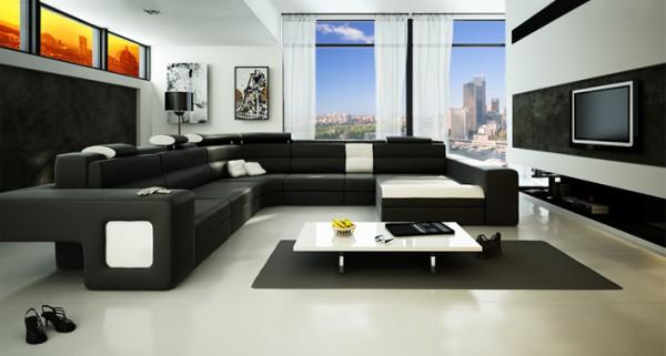 Фото дизайна гостиной в стиле хай-тек