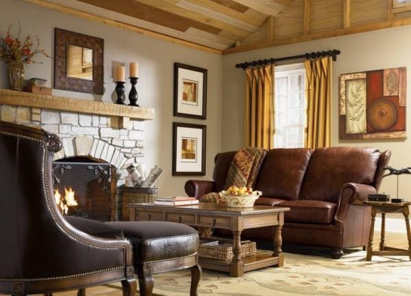 Фото дизайна гостиной в стиле кантри