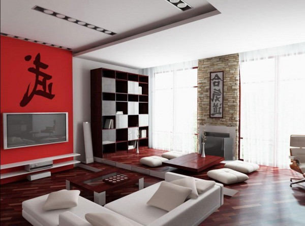 Фото дизайна интерьера гостиной в японском стиле