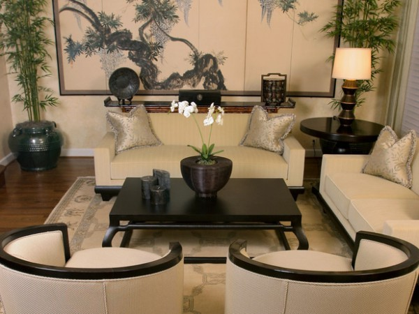 Фото гостиной в китайском стиле