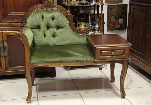 Фото кресла-банкетки со спинкой в прихожую