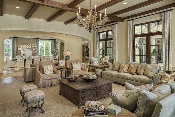 Фото мебели для гостиной в стиле прованс