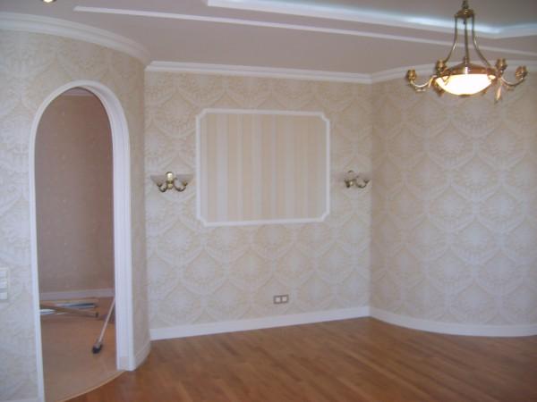 Фото обоев для гостиной в классическом стиле