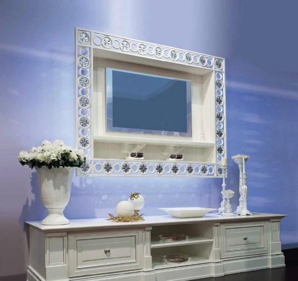 Фото подвесной тумбы под телевизор в стильном дизайне