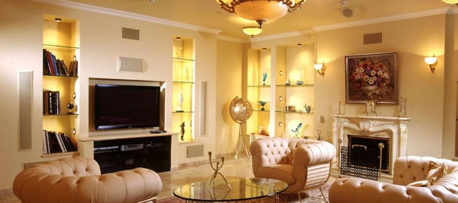 Фото потолочной люстры в зал для гостиной комнаты