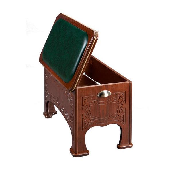 Фото средне-коричневой банкетки в стиле ретро с ящиком в прихожую