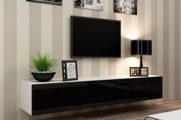 Фото стильной тумбы под телевизор в стиле хай-тек