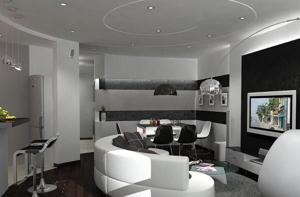 Фото светильника для гостиной в стиле хай-тек
