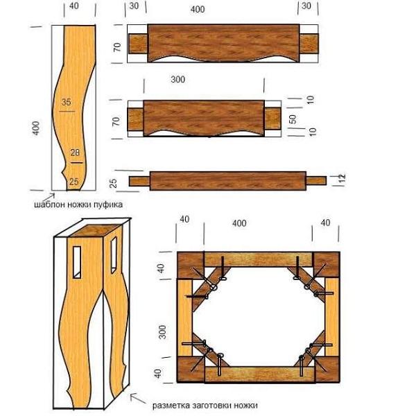 Ножки для тумбочки своими руками
