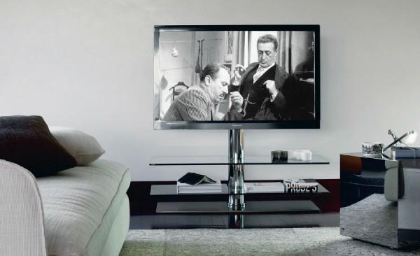 Минималистическая тумбочка под телевизор