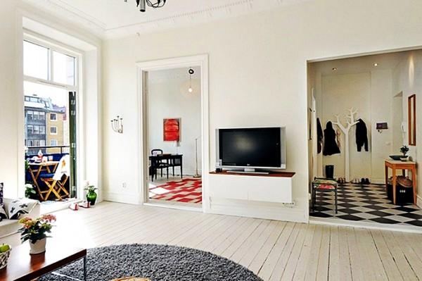 Скандинавский стиль в дизайне ТВ-тумбы