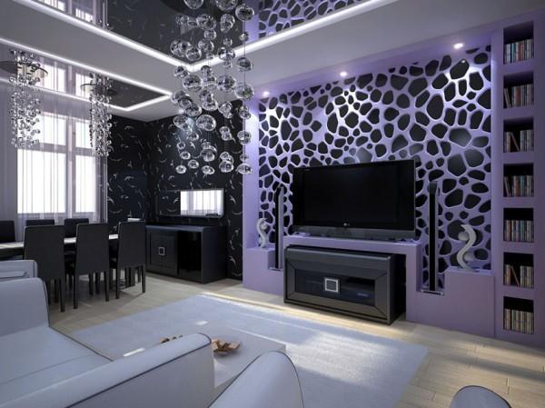 Современная потолочная люстра для гостиной в стиле модерн
