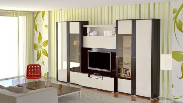 Современная стенка для гостиной комнаты