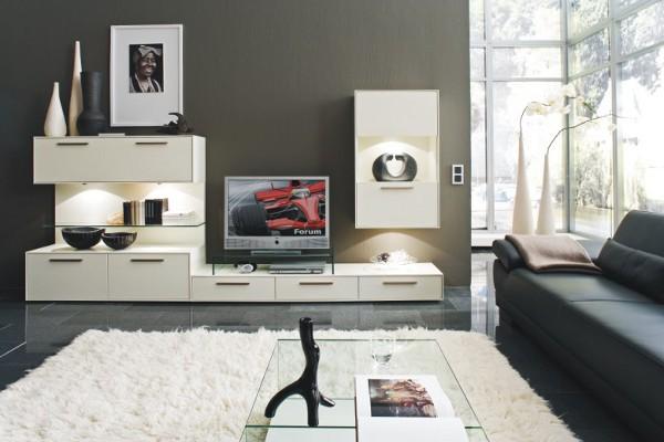 Современные модульные стенки для гостиной