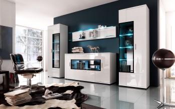 Современные модульные стенки для гостиной как основа интерьера