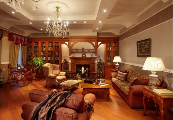 Стильная гостиная в английском стиле