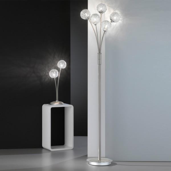 Торшер и настольная лампа в одном стиле