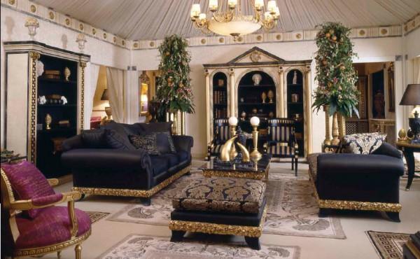 Вычурная мебель для гостиной в восточном стиле